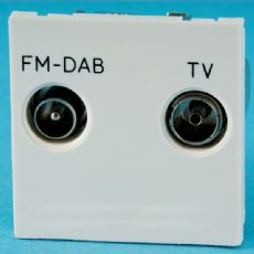 Varilight White Diplex Module TV/FM (+DAB) Splits Signal back Into 2 Outlets (Use with Datagrid Plat